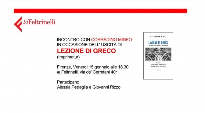 """PRESENTAZIONE """"LEZIONE DI GRECO"""" A FIRENZE"""