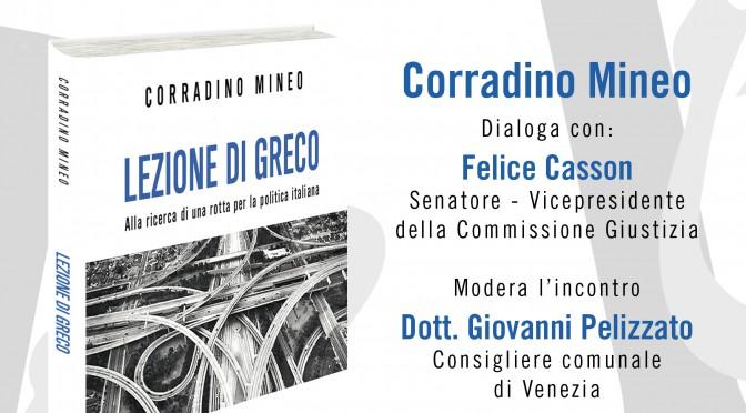 """""""Lezione di greco"""" con Casson, a Venezia"""