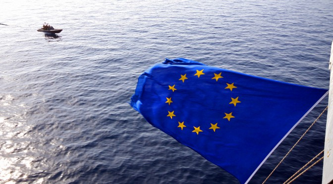 EU Flag sea