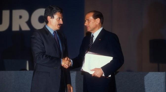 1993 MASSIMO D'ALEMA E SILVIO BERLUSCONI   PAOLO TRE / AGF