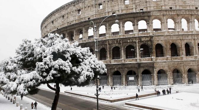 La neve a Roma e il futuro del mondo