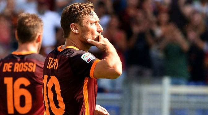 Il rigore di Totti e l'urlo di Catania