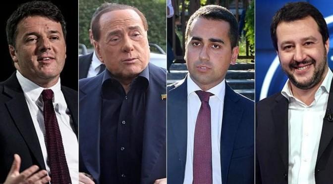 Asta delle promesse elettorali: chi offre di più fra Di Maio, Berlusconi, Renzi e Salvini?